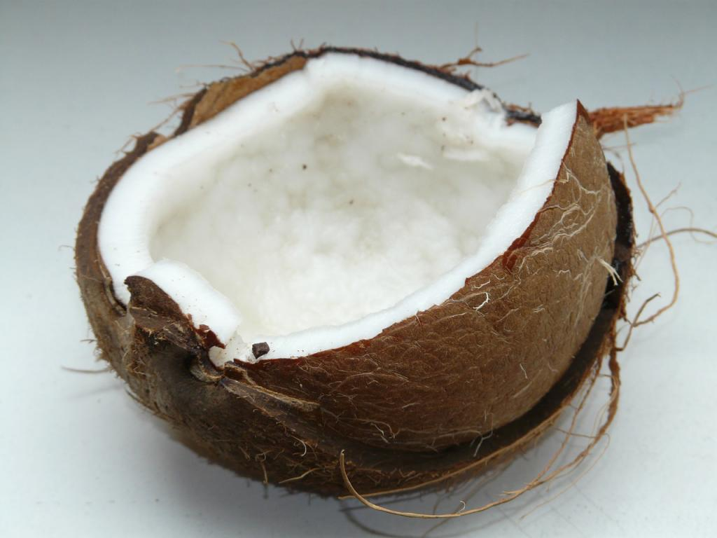 Coconut that is high in fiber