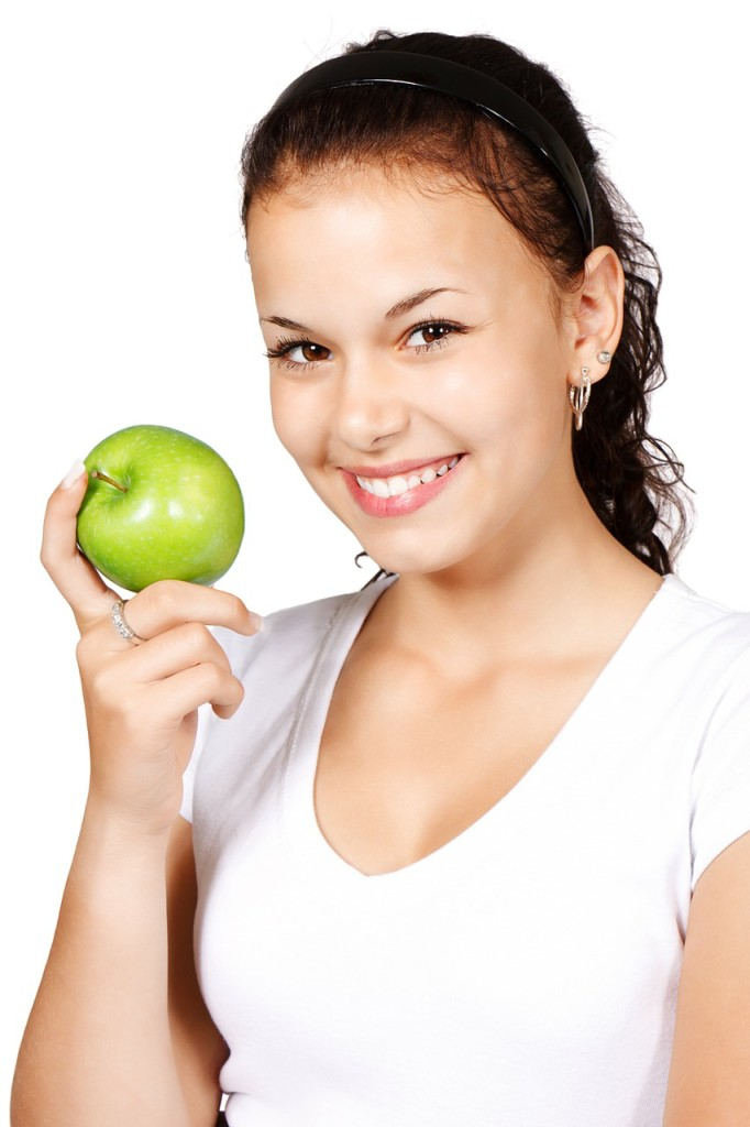 an apple as part of the high fiber diet plan