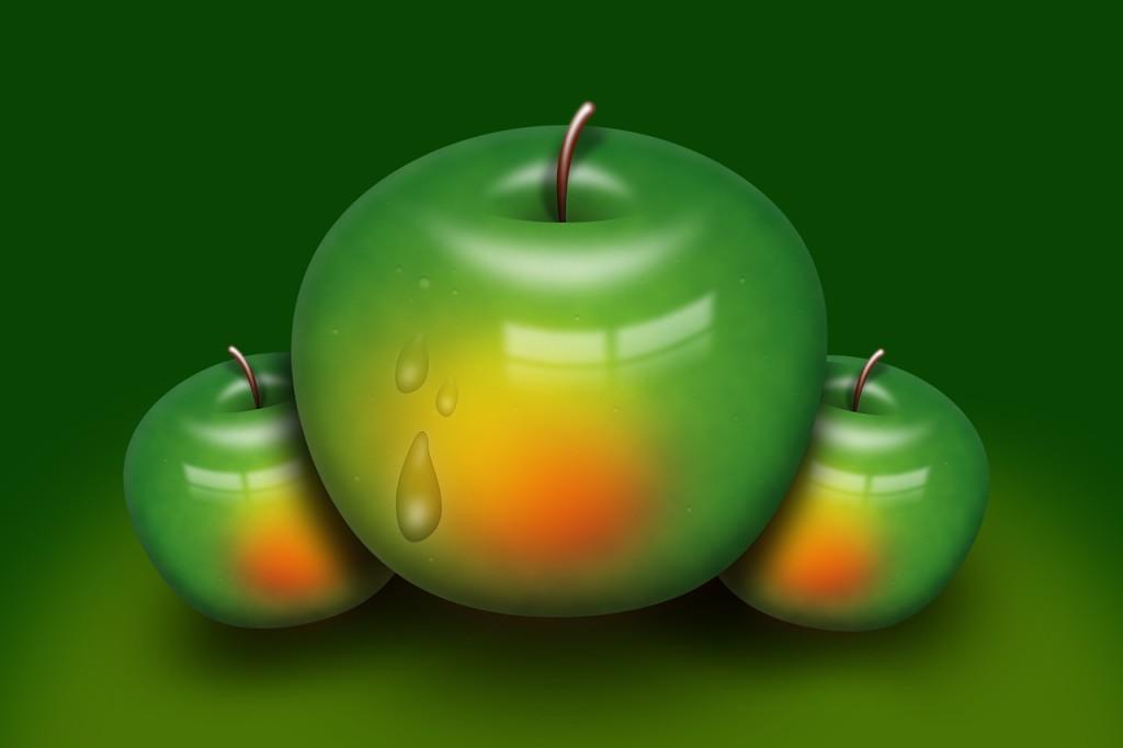 high fiber apple