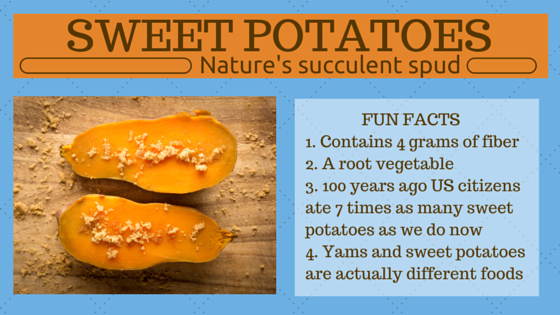 Fiber Focus Friday: Sweet Potatoes, Nature's Succulent Spud
