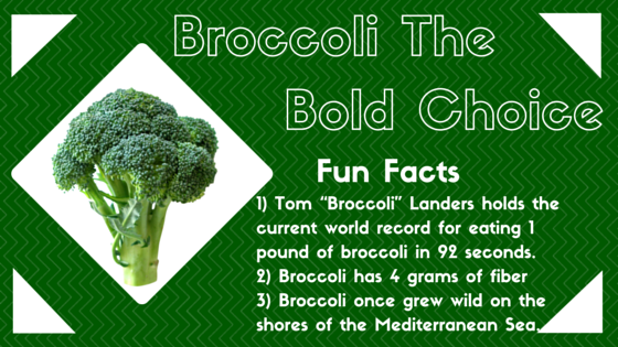 Fiber Focus Friday: Broccoli, the BOLD choice