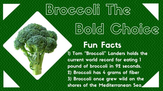 Fiber Focus Friday: Broccoli, the BOLD choice